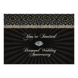 pocket wedding invites diamond wedding anniversary invitation card zazzle