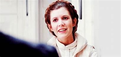 Leia Princess Carrie Gifs Fisher Disney Wars