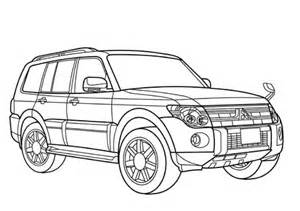 mitsubishi pajero coloring page  printable coloring pages