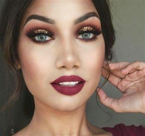 maroon  gold burgundy eye makeup maroon makeup maroon dress makeup