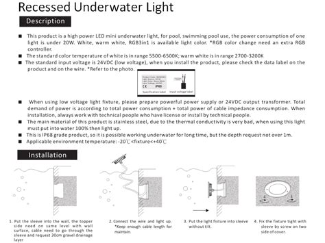 itallation itructio shenzhen xinchuang lighting technology co ltd led inground light led
