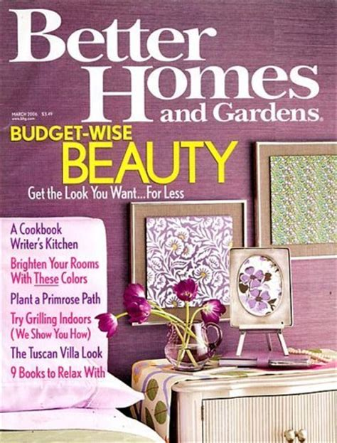 Better Homes & Gardens Magazine Subscription Deal  1 Year