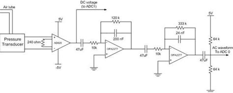 Pressure Transducer Circuit Diagram by Portable Digital Blood Pressure Monitor Engineering Projects