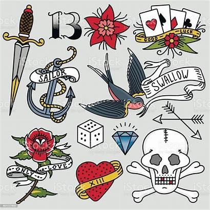 Tattoo Retro Drawn Traditional Symbol Tattoos Tattooing