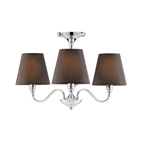 wilko 3 arm chandelier metal ceiling light fitting black