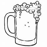 Beer Coloring Drawing Glass Bottle Soda Drinking Mug Clip Printable Clipart Getcolorings Clipartmag sketch template