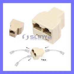 cat 5 splitter rj45 cat 5 lan ethernet splitter connector