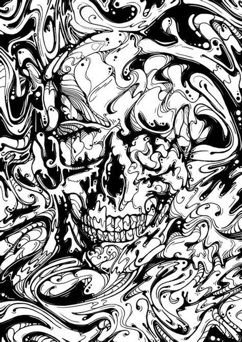 Liquid Illustrations – Skull & Faces on Behance | Skull