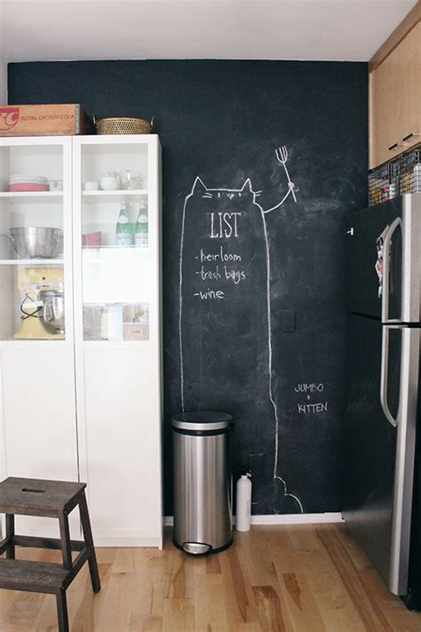 Kitchen Chalkboard Wall by The Apartment Archives Almost Makes Perfect