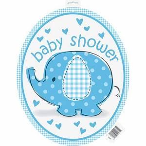 Blue Elephant Baby Shower Cut Out Decora - Walmart.com
