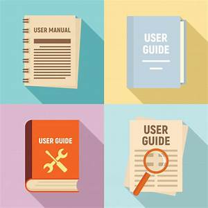 User Guide Icons Set  Flat Style
