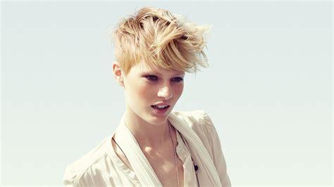 short sun bleached hair  longer hair   crown