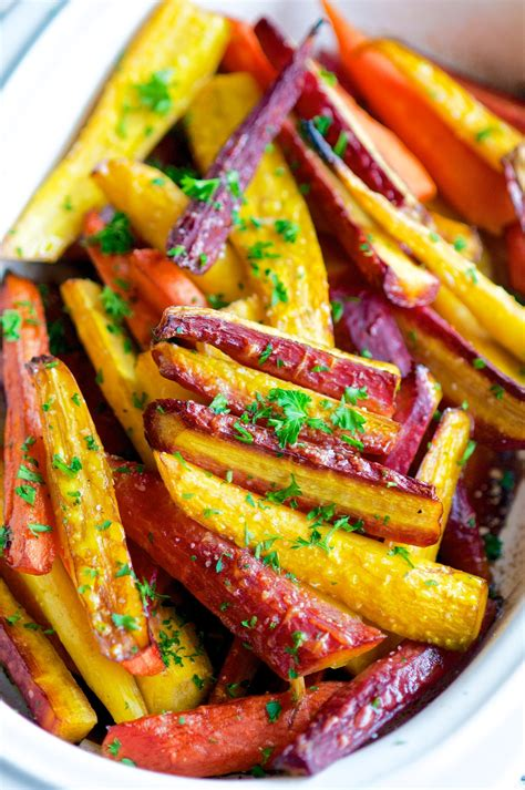 Things to do with carrots for snacks. Balsamic Honey Glazed Rainbow Carrots - Aberdeen's Kitchen