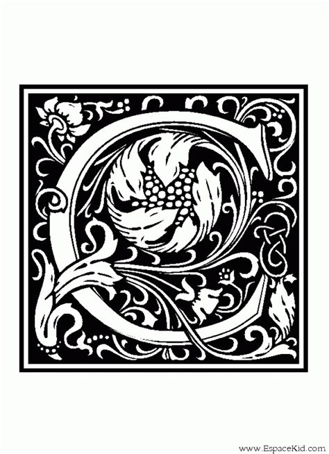 letter  coloriage lettre   imprimer dans les coloriages lettrine dessin decorative