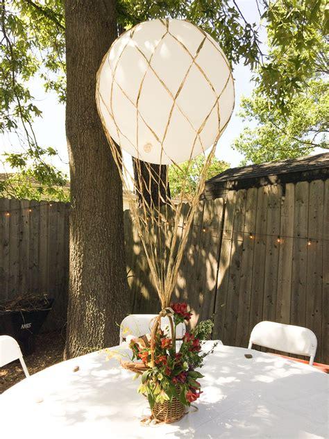Hot Air Balloon Centerpiece Recital Ideas Wedding
