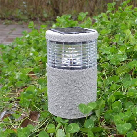 garden solar post white warm white led light outdoor