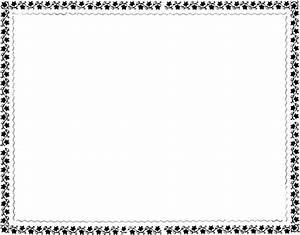 Best Black And White Flower Border #15739 - Clipartion.com