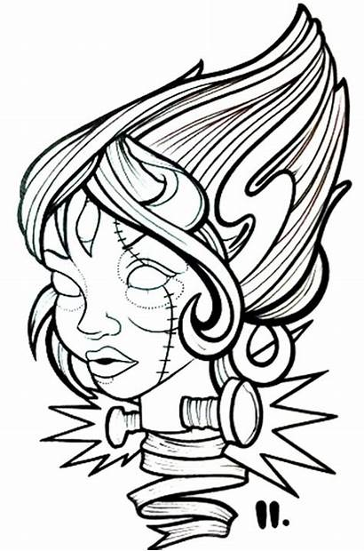 Tattoo Flash Zombie Mermaid Tattoos Cliparts Female