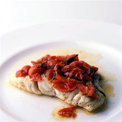 grouper recipes basil tomato recipe food fish epicurious meal wine pan