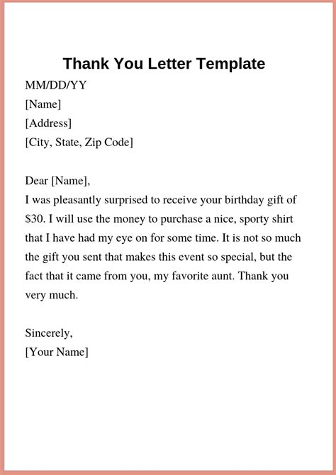 Thank You Letter Template by How To Write Thank You Letter Template For Gift How To Wikii