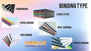namiza print shop cyberjaya With types of document binding