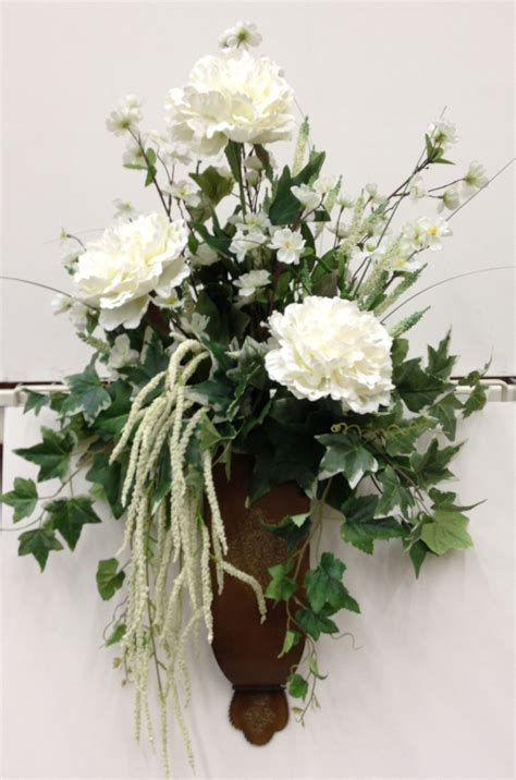 Large Floral Vases by Large Wall Vase With White Flowers My Floral Design At
