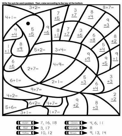 Math Coloring Pages Grade Printable Worksheets Sheets