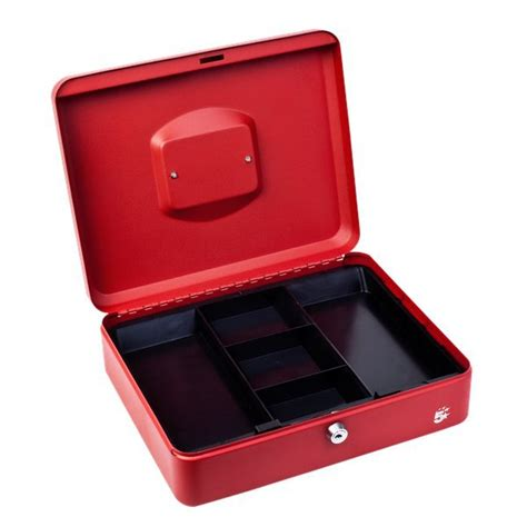 cassetta portavalori cassetta portavalori 5 24x30x9 cm rosso 918931