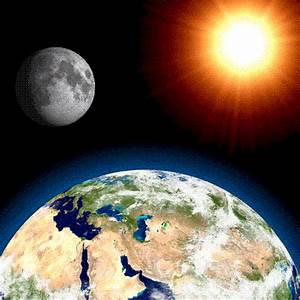 THE EARTH AND THE UNIVERSE: THE EARTH, THE MOON AND THE SUN