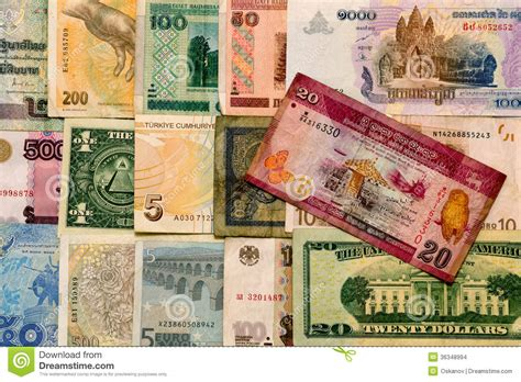 Various Currencies Stock Images