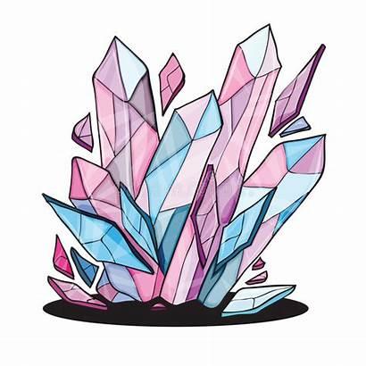 Crystal Clipart Stones Vector Illustration Clip Crytsal