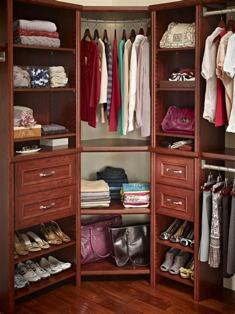 Org Closets by Closetmaid Impressions Corner Unit In Cherry Re