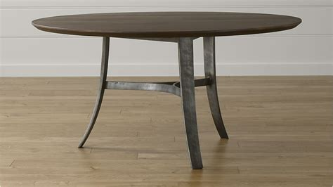 crate and barrel round dining table tahoe 60 quot round dining table crate and barrel
