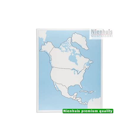 north america control map unlabeled
