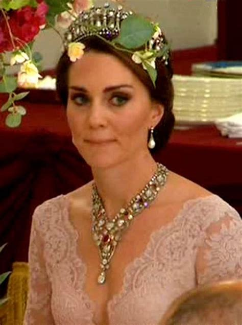 kate middleton dazzles  princess dianas tiara