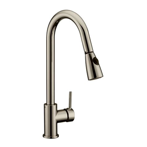 kraus single handle stainless steel high arc pull down