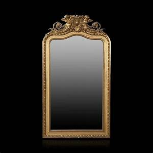 Grand Miroir En Bois Dor De Style Louis XV 2012120358