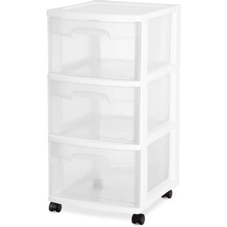 sterilite 3 drawer cart sterilite 3 drawer cart white walmart