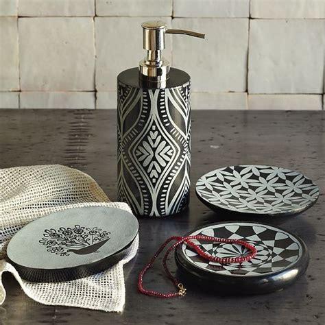 black marble bath accessories modern bathroom