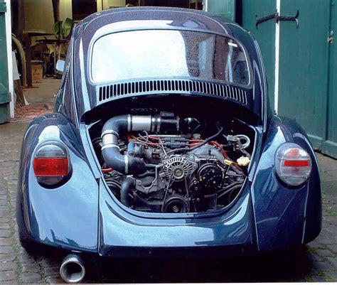 subaru boxer engine in vw beetle with subaru installed bug wheels pinterest subaru