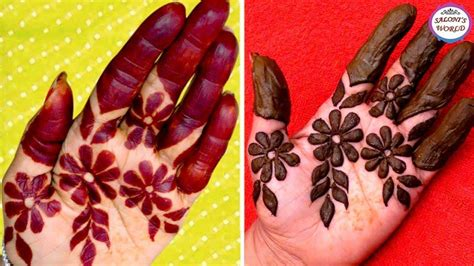 trending bharwa flower mehndi design smart easy ideas