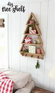 Christmas, Tree, Wall, Shelf