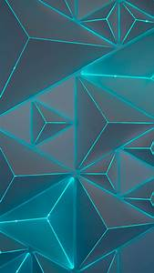 Teal Light Wallpaper Triangles Neon Turquoise Teal Geometric