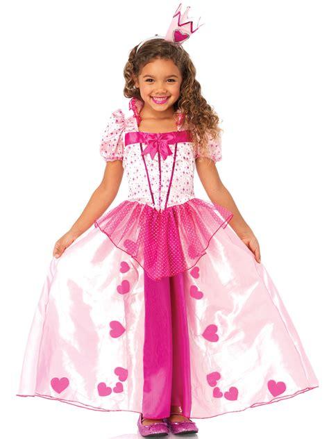 maerchen prinzessin kinderkostuem herzen pink rosa