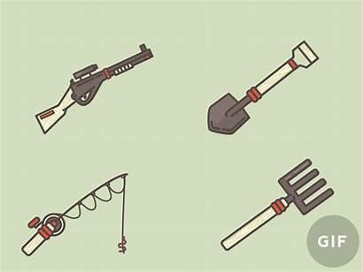 Survival Kit Zombie Meg Dribbble Tools Icon