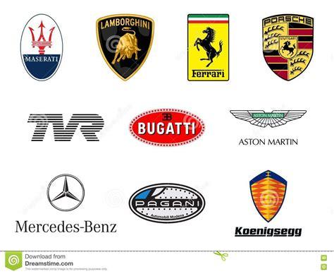 Luxurious Sport Cars Producers Logos Editorial Stock Photo