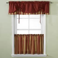 versa tie lisa stripe window curtain tiers and valance bed bath beyond