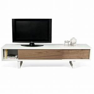 Meuble Tv Metal : slide meuble tv ou buffet bas temahome ~ Teatrodelosmanantiales.com Idées de Décoration