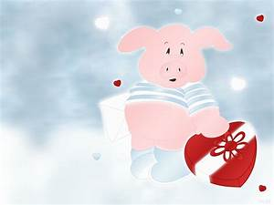 1280x960 Pink pig with heart desktop PC and Mac wallpaper