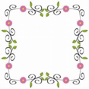 clipart flower frame
